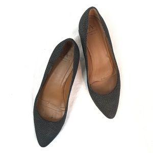 Aquatalia Phoebe Suede Dot Block Heels